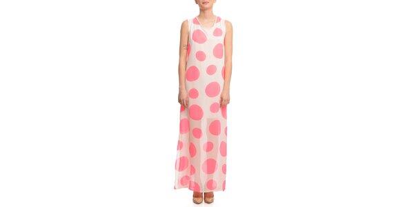 Dámské růžově puntíkované šaty Butik 7279