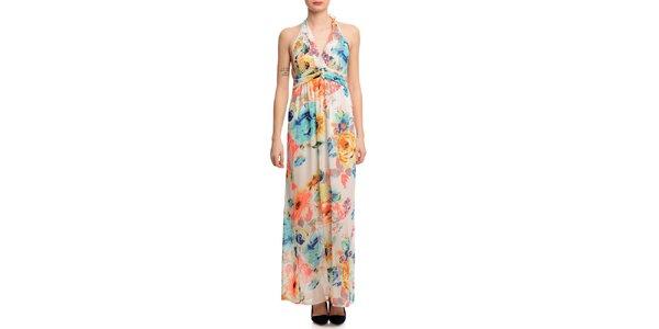 Dámské dlouhé květované šaty Butik 7279