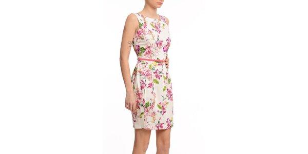 Dámské pouzdrové šaty s květinovým potiskem Butik 7279
