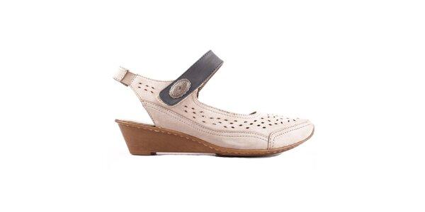 Dámské kožené boty s perforací Bel Canto