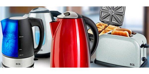 Rychlovarné konvice, toastovače a sendvičovače ECG