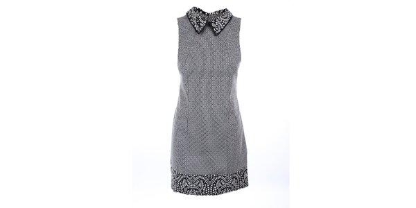 Dámské černo-bílé šaty bez rukávů Melli London