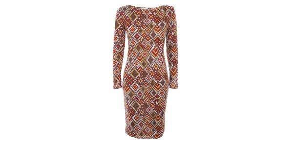 Dámské šaty s barevným potiskem Melli London