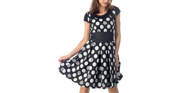 Dámské šaty s puntíky Nelita