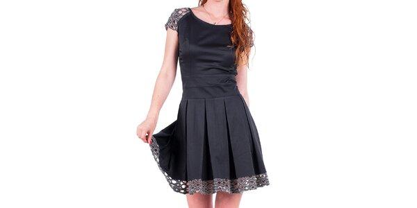 Dámské šaty s ozdobnou perforací Nelita