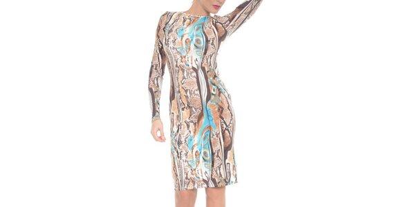 Dámské pouzdrové pestrobarevné šaty Melli London