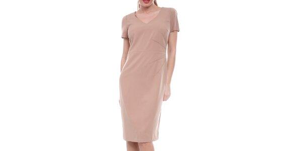 Dámské béžové pouzdrové šaty Melli London