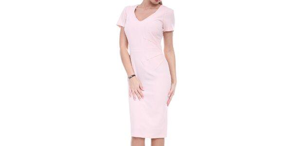 Dámské růžové pouzdrové šaty Melli London