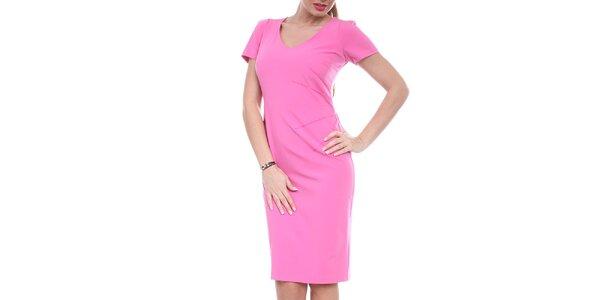 Dámské sytě růžové pouzdrové šaty Melli London