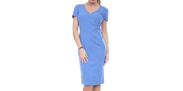 Dámské modré pouzdrové šaty Melli London