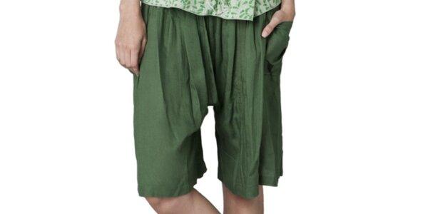 Dámské zelené kraťasy Yhoss