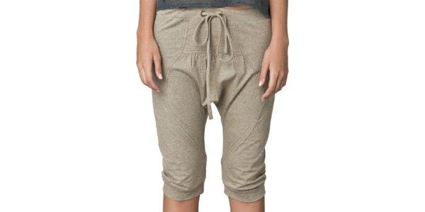 Dámské pískové capri kalhoty Yhoss