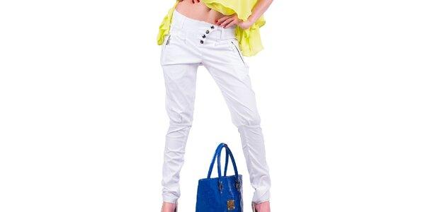 Dámské bílé kalhoty Nelita