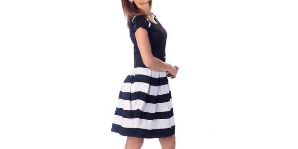 Dámské šaty s pruhovanou sukní Nelita