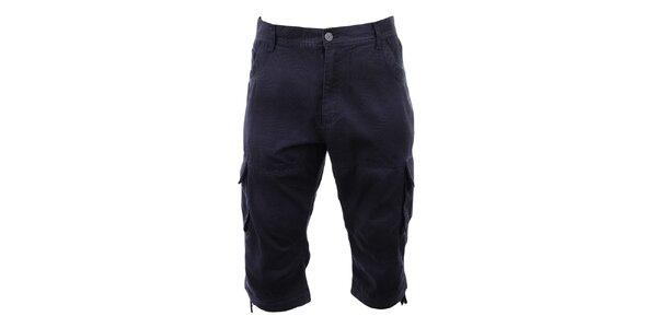Pánské modré potištěné 3/4 kalhoty Authority