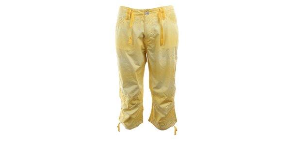 Dámské žluté capri kalhoty Authority