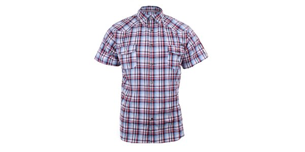 Pánská červeně kostkovaná košile Authority