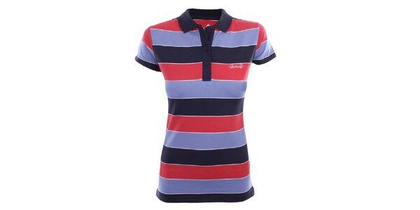 Dámské polo tričko s barevnými pruhy Authority