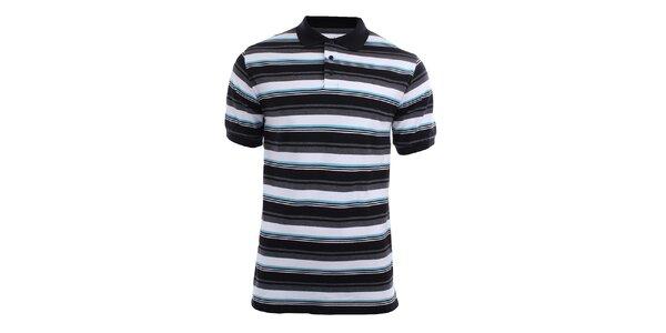 Pánské polo tričko s modrými proužky Authority