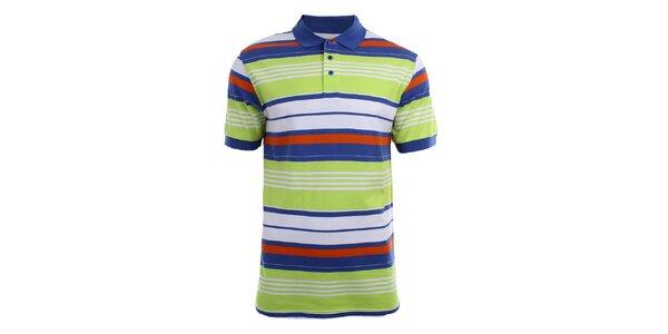 Pánské polo tričko s barevnými pruhy Authority