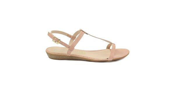 Dámské světle růžové kožené sandálky Giorgio Picino