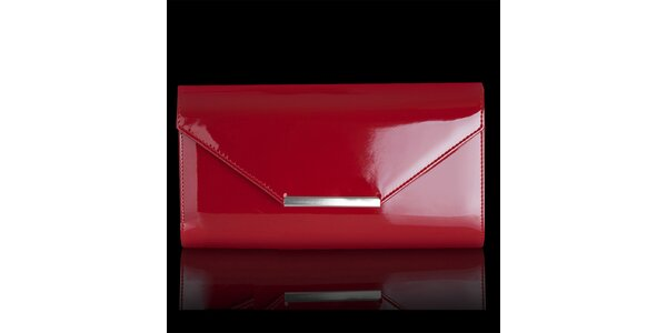 Dámské lesklé červené psaníčko Felice