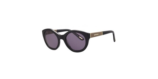 Dámské černé sluneční brýle s ozdobnou stranicí Nina Ricci
