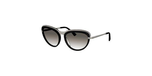 Dámské černo-stříbrné sluneční brýle Nina Ricci