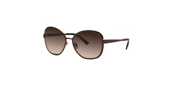 Dámské hnědé sluneční brýle s gradientními skly Nina Ricci