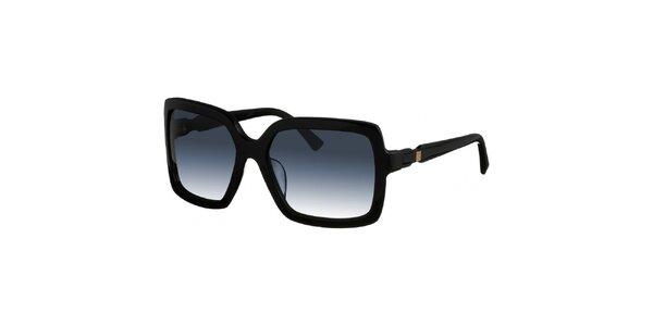 Dámské hranaté černé sluneční brýle Nina Ricci