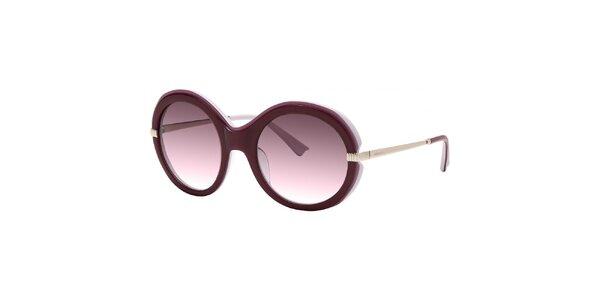 Dámské fialové sluneční brýle s gradientními skly Nina Ricci