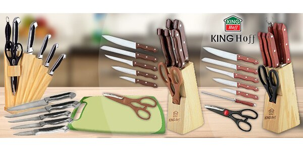 Sady nerezových nožů KINGHoff v bloku