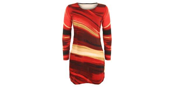 Dámská tunika s červenými abstraktními vzory Sugar Crisp cbdaa90087
