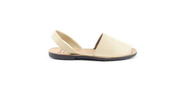 Dámské béžové sandály z kůže Daneris