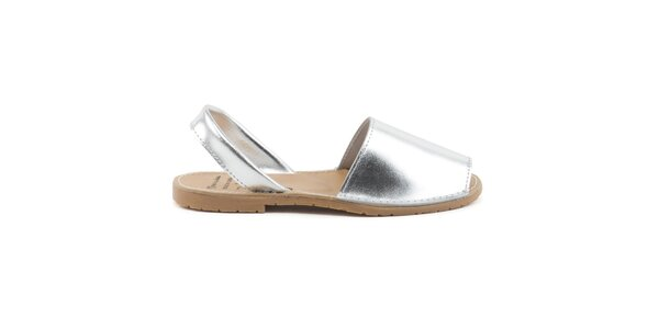 Dámské stříbrné sandály z kůže Daneris