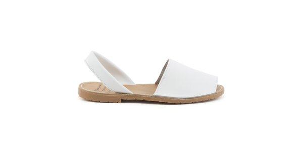 Dámské bílé sandály z kůže Daneris