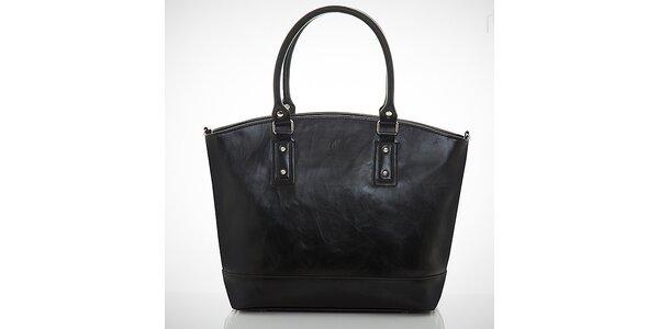 Dámská matná černá kabelka s vnější kapsičkou Felice