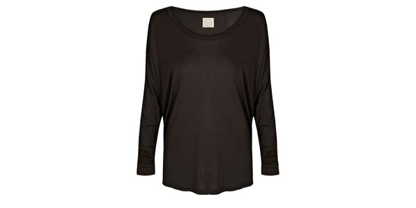 Dámská černé tričko s netopýřími rukávy Isabi