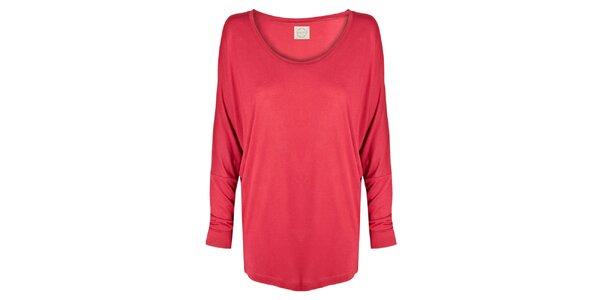 Dámská červené tričko s netopýřími rukávy Isabi