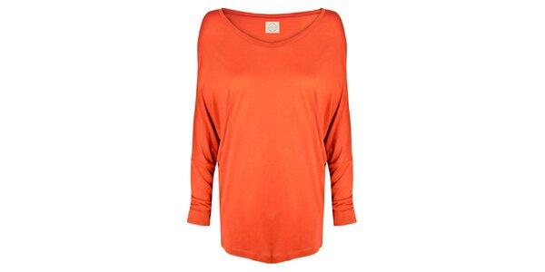 Dámská oranžové tričko s netopýřími rukávy Isabi