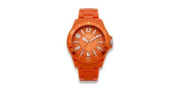Dámské oranžové hodinky Oasis