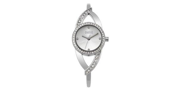 Dámské ocelové hodinky s kamínky Oasis