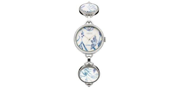 Dámské stříbrné hodinky se vzorem Oasis