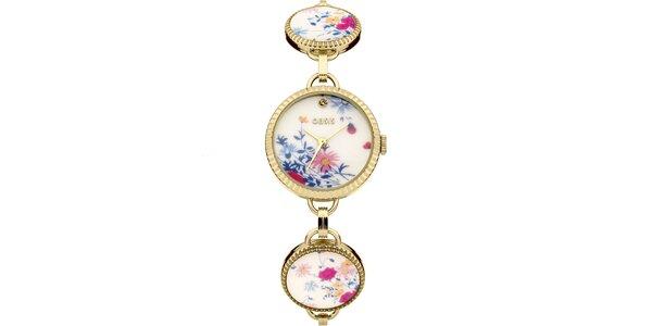 Dámské zlaté hodinky se vzorem Oasis