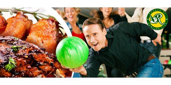 Bowling na Radavě + tác pečeného masa (2,2 kg)