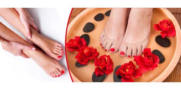 Wellness pedikúra s relaxační masáží v Poděbradech