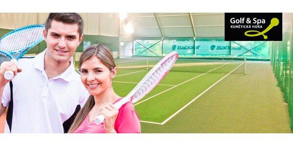 2hodinový pronájem tenisových kurtů pro dva