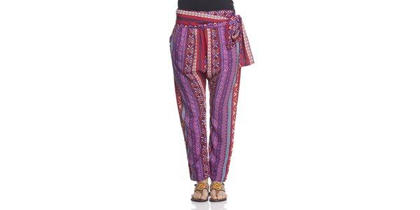 Dámské fialovo-červené kalhoty Janis