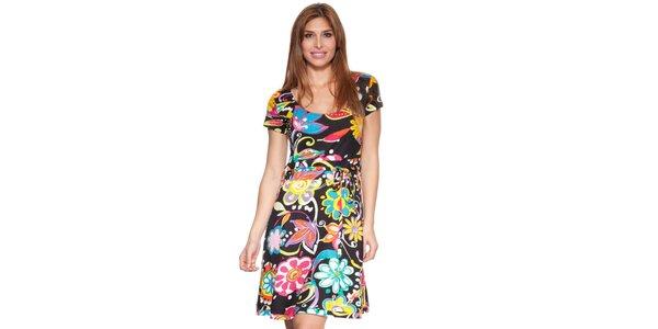 Dámské barevné šaty s krátkými rukávy Janis