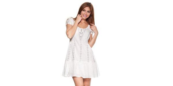 Dámské krémově bílé šaty Janis